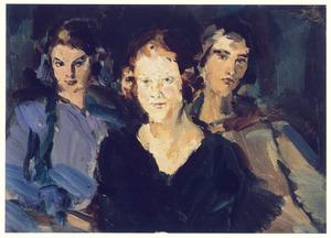 Portret van drie meisjes uit de familie Schepers