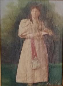 Portret van Alida Wilhelmina Francisca ('Lous') van Dam (1856-1946)