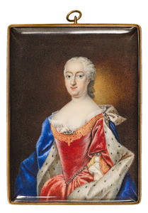 Portret van Charlotte Frederika van Nassau -Siegen (1702-1785)