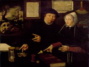 Dubbelportret van Egbert Gerbrantsz. Ruysch en zijn echtgenote
