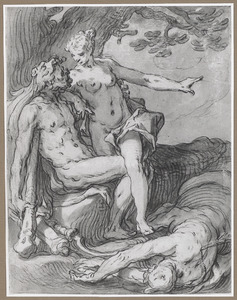 Herakles en Deianeira met de dode centaur Nessos