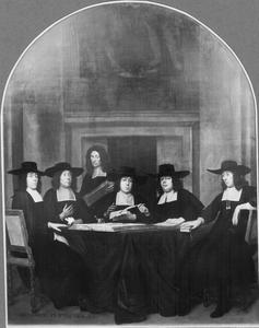 Groepsportret van Zwolse predikanten, 1691