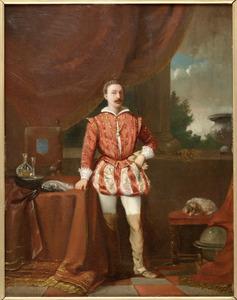 Portret van een man op een terras