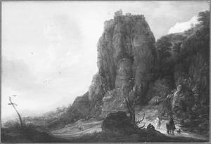 Berglandschap met ruiters