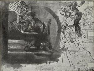 Studie van een man en drie vrouwen