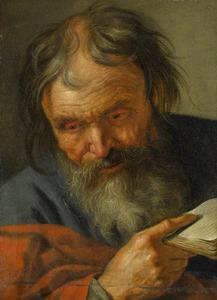 Oude man met een boek