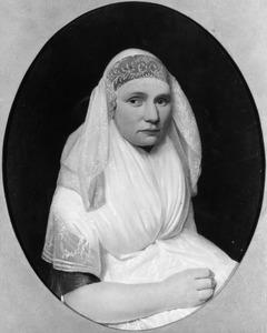 Portret van een vrouw in Friese klederdracht