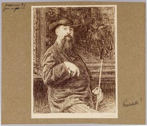 Portret van de kunstenaar A.J.T. Monticelli (1824-1886)