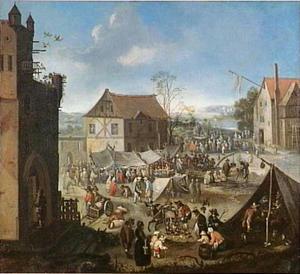 Markt in een dorp