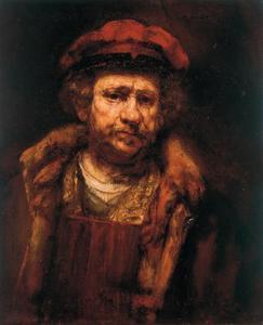 'Zelfportret' van Rembrandt met rode baret