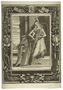 Portret van Geertruida van Saksen met haar zoontje de latere Dirk V van Holland