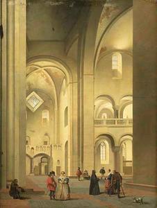Het transept van de Mariakerk in Utrecht, gezien vanuit het noordoosten