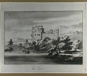 Heuvellandschap met Italiaanse fortificatie aan een rivier