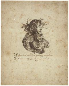Portret van Koning-Stadhouder Willem III, gecombineerd met Mars
