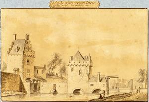 De Oude Wittevrouwenpoort in Utrecht vanuit het zuiden
