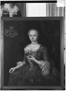 Portret van Hiddina Catharina Anna Tjarda van Starkenborgh (1727-1779)