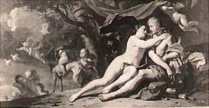 Venus tracht Adonis van het jagen te weerhouden