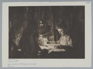Kinderen bij lamp