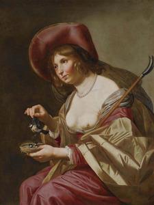 Jonge herderin met een vogelnestje