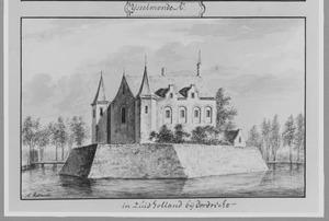 Achterzijde van het kasteel van IJsselmonde