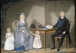 Portret van de familie van Jan Troost (1766-1842)