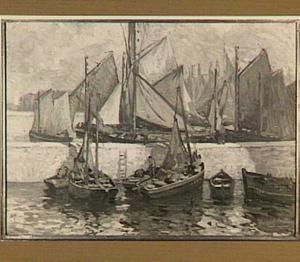 Boten in de haven van Concarneau