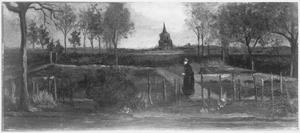 De tuin van de pastorie te Nuenen