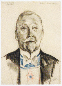Voorstudie portret Burgemeester W. de Vlugt (1872-1945)