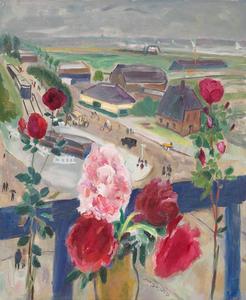 Stilleven met bloemen en uitzicht op de Amstelveenseweg