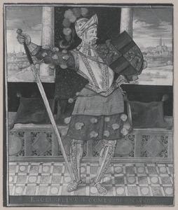 Portret van Engelbert I graaf van van Nassau (1370-1442)