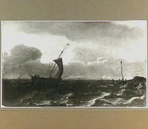 Zeilschip voor de kust