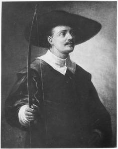 Portret van een man met een boog