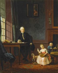 Portret van Hendrik Muilman (1743-1812) en zijn kinderern