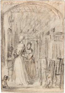 Twee vrouwen in een interieur