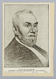 Portret van mr. Ph.W. van Heusde, president van het gerechtshof te 's-Gravenhage