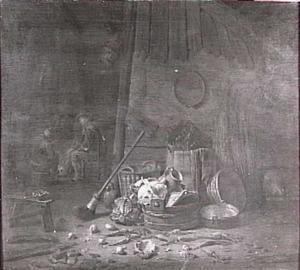 Interieur van een schuur (stilleven)