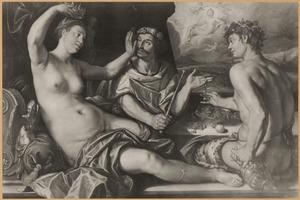 Apame neemt de kroon van de koning en slaat hem met haar linker hand (3 Ezra 3-4)