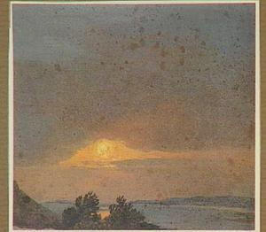 Landschap bij zonsondergang