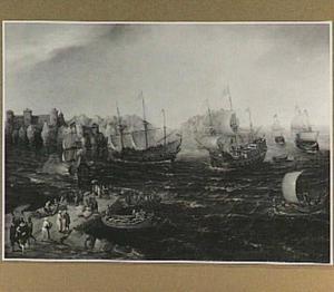 Handeldrijvende schepen in het oosten