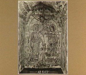 Grafschildering met de kruisiging