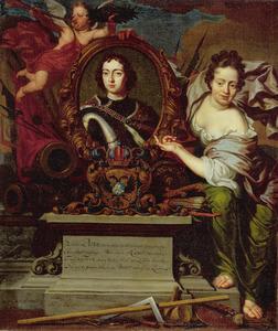 Portret van tsaar Peter de Grote van Rusland  (1672-1725)