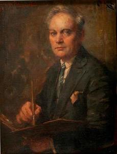 Portret van de kunstenaar Henri van Os-Delhez