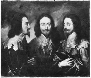 Portret van Karel I van Engeland in drie standen