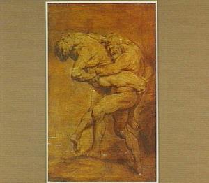 Het gevecht tussen Hercules en Antaeus