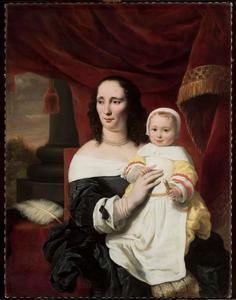 Portret van Johanna de Geer-Trip (1627-1691) met haar dochter Caecilia