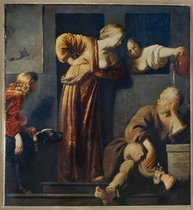 Socrates begoten door Xantippe