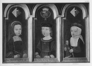 Portretten van Eleonora, Karel  V en Isabella van Habsburg als kinderen
