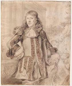 Portret van een man met een geborduurde jas