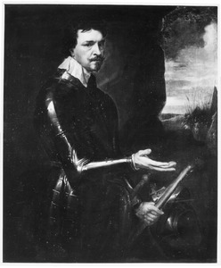 Portret van Thomas Wentworth, 1st Earl of Strafford in wapenrusting