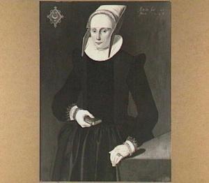 Portret van Tietske Baarda (1602-....), echtgenote van Harmen Fransz. Bockema  (1596-....)